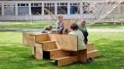 Новая скамейка для самых общительных